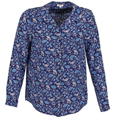 Oblečenie Ženy Košele a blúzky Manoush BANDANA SILK Modrá