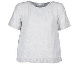 Oblečenie Ženy Tričká s krátkym rukávom Manoush COTONNADE SMOCKEE Biela