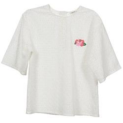 Oblečenie Ženy Blúzky Manoush FLOWER BADGE Biela