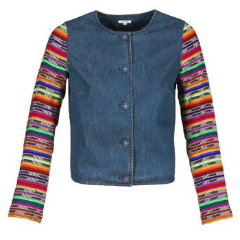 Oblečenie Ženy Saká a blejzre Manoush INDIAN DENIM Modrá