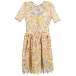 Oblečenie Ženy Krátke šaty Manoush ROSES Krémová