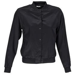 Oblečenie Ženy Saká a blejzre Manoush TEDDY FLEUR SIATIQUE Čierna
