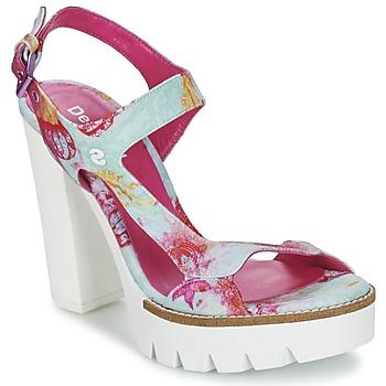 Topánky Ženy Sandále Desigual VENICE Tyrkysová / Ružová
