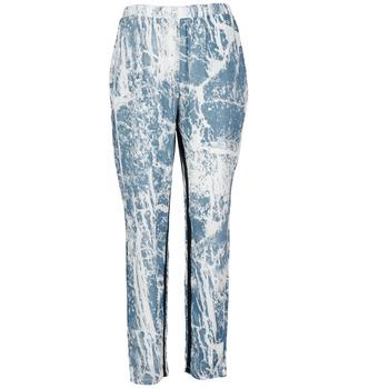 Oblečenie Ženy Padavé nohavice Vila GRUNGE ME Modrá / Biela
