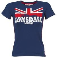 Oblečenie Ženy Tričká s krátkym rukávom Lonsdale ERYKAH Modrá