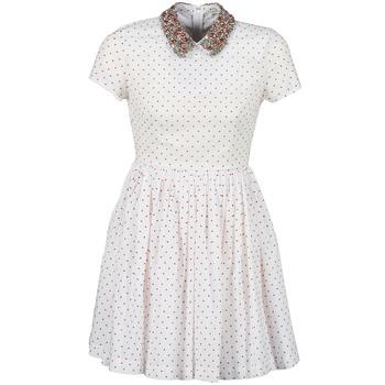 Oblečenie Ženy Krátke šaty Manoush PLUMETIS STRASS Biela / Červená