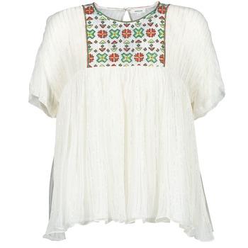 Oblečenie Ženy Blúzky Manoush POINT DE CROIX Krémová