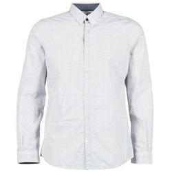 Oblečenie Muži Košele s dlhým rukávom Tom Tailor MARCHALO Biela / Námornícka modrá