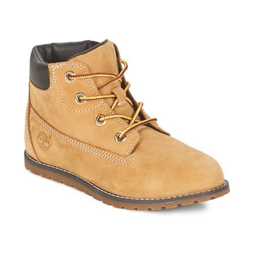Topánky Deti Polokozačky Timberland POKEY PINE 6IN BOOT WITH Žltá obilná
