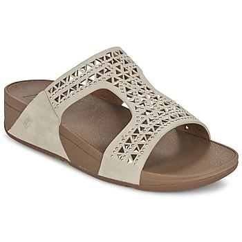 Topánky Ženy Šľapky FitFlop CARMEL SLIDE Béžová