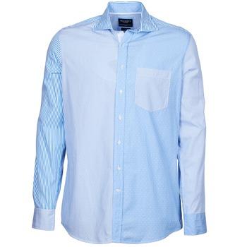Oblečenie Muži Košele s dlhým rukávom Hackett GORDON Modrá