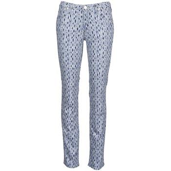 Oblečenie Ženy Rovné džínsy Lee MARION STRAIGHT Printed / Modrá