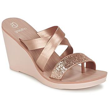 Topánky Ženy Sandále Grendha PARADISO II PLAT Ružová / Metalická