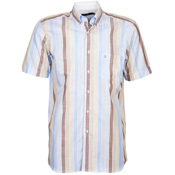 Oblečenie Muži Košele s krátkym rukávom Pierre Cardin 539936240-130 Modrá / Béžová / Hnedá