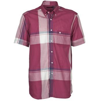 Oblečenie Muži Košele s krátkym rukávom Pierre Cardin 538536226-860 Tmavá fialová / Fialová