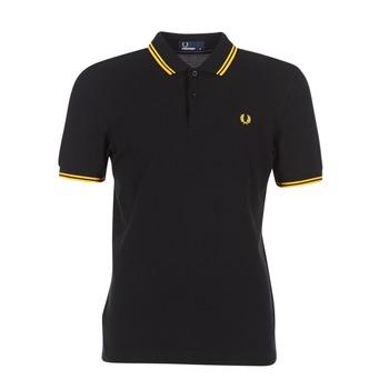 Oblečenie Muži Polokošele s krátkym rukávom Fred Perry SLIM FIT TWIN TIPPED Čierna / Žltá