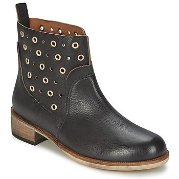 Topánky Ženy Polokozačky Hugo Boss Orange 50266292 Čierna