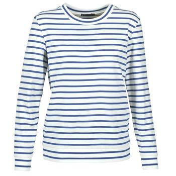 Oblečenie Ženy Mikiny Petit Bateau BEAM Biela / Námornícka modrá
