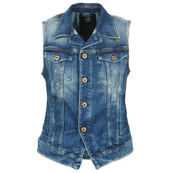 Oblečenie Ženy Džínsové bundy G-Star Raw 3302 JKT S/LESS WMN Modrá / Clear
