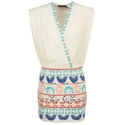 Oblečenie Ženy Krátke šaty Antik Batik POLIN Biela / Viacfarebná