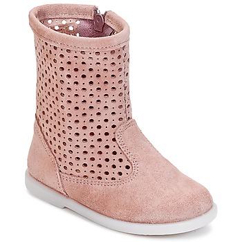 Topánky Dievčatá Polokozačky Citrouille et Compagnie BOREAL Ružová