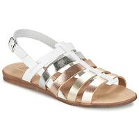 Topánky Dievčatá Sandále Citrouille et Compagnie PEQUEBELLO Biela / Zlatá