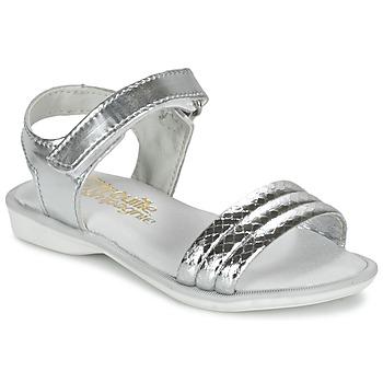 Topánky Dievčatá Sandále Citrouille et Compagnie GOSAGOLA Strieborná