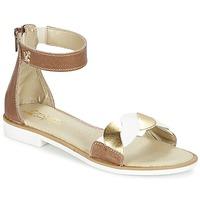 Topánky Dievčatá Sandále Citrouille et Compagnie MINIMAZA ťavia hnedá / Zlatá