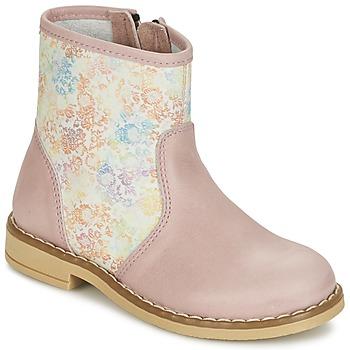 Topánky Dievčatá Polokozačky Citrouille et Compagnie OUGAMO LIBERTY Ružová / Kvetovaná