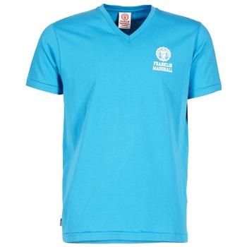 Oblečenie Muži Tričká s krátkym rukávom Franklin & Marshall DOBSON Modrá