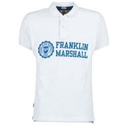 Oblečenie Muži Polokošele s krátkym rukávom Franklin & Marshall AYLEN Biela
