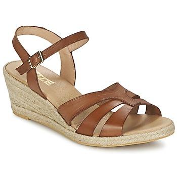 Topánky Ženy Sandále So Size ELIZA Hnedá