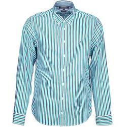 Oblečenie Muži Košele s dlhým rukávom Tommy Hilfiger KELL STP NF2 Modrá / Zelená