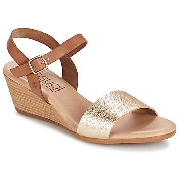 Topánky Ženy Sandále Casual Attitude GOLETTE Ťavia hnedá / Zlatá