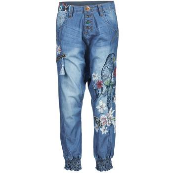 Oblečenie Ženy Padavé nohavice Desigual ANIATINE Modrá / MEDIUM