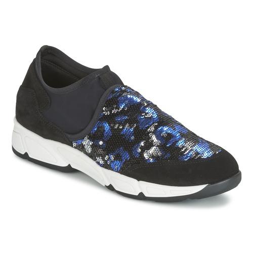 Topánky Ženy Slip-on Meline LEO Čierna / Modrá
