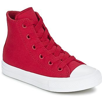 Topánky Deti Členkové tenisky Converse CHUCK TAYLOR All Star II HI červená