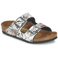 Topánky Chlapci Šľapky Birkenstock ARIZONA Čierna / Biela