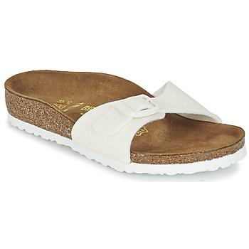 Topánky Dievčatá Šľapky Birkenstock MADRID Biela / Trblietkavá