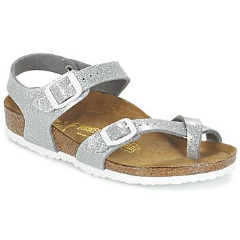 Topánky Dievčatá Sandále Birkenstock TAORMINA Strieborná
