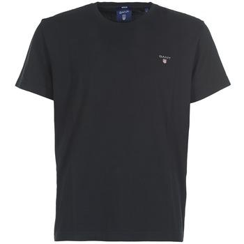Oblečenie Muži Tričká s krátkym rukávom Gant THE ORIGINAL SOLID T-SHIRT Čierna