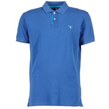 Oblečenie Muži Polokošele s krátkym rukávom Gant CONTRAST COLLAR PIQUE Modrá