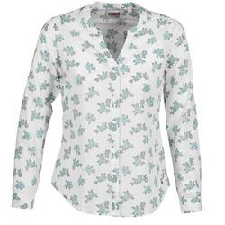 Oblečenie Ženy Košele a blúzky Mustang FLOWER BLOUSE Biela / Modrá