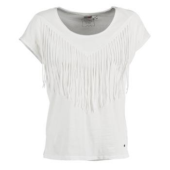 Oblečenie Ženy Tričká s krátkym rukávom Mustang FRINGE Biela