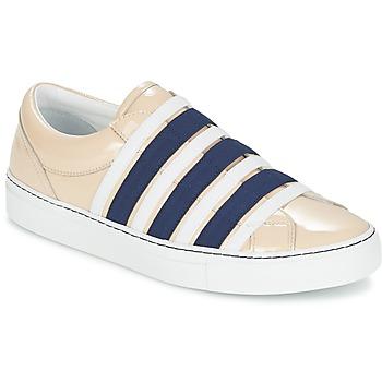 Topánky Ženy Slip-on Sonia Rykiel SONIA BY - SLIPPINETTE Béžová / Námornícka modrá