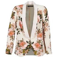 Oblečenie Ženy Saká a blejzre Vila VIFLOURISH BLAZER Béžová / Kvetovaná
