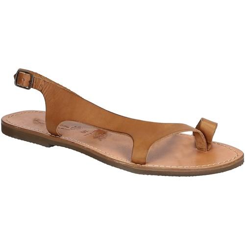 Topánky Muži Sandále Gianluca - L'artigiano Del Cuoio 526 D CUOIO GOMMA Cuoio