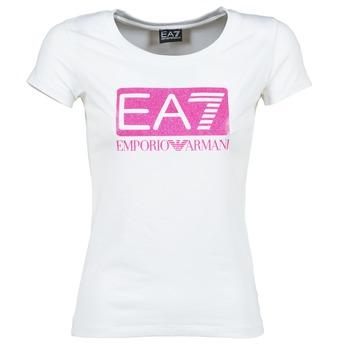 Oblečenie Ženy Tričká s krátkym rukávom Emporio Armani EA7 BEAKON Biela