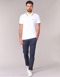 Oblečenie Muži Nohavice Chinos a Carrot Selected THREE PARIS Námornícka modrá