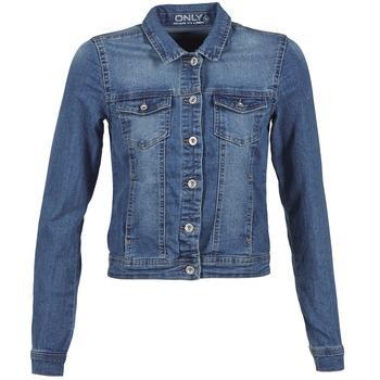Oblečenie Ženy Džínsové bundy Only NEW WESTA Modrá
